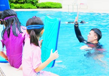 Learning Swimming From A Private Instructor